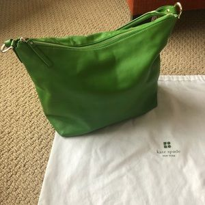 Green Leather Kate Spade Hobo